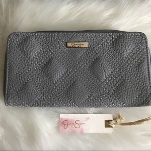 NWT Jessica Simpson purple quilted wallet